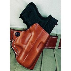 DeSantis Mini Scabbard Leather Belt Holster for Glock 42, Right Hand, Black, 019BAY8ZO 019BAY8Z0