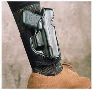 DeSantis Die Hard Ankle Rig Holster for Glock 43, Black, Right Hand, 014PC8BZ0 014PC8BZ0
