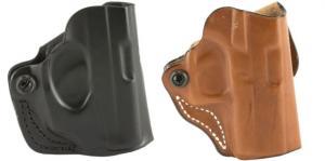 DeSantis Mini Scabbard Leather Belt Holster for Glock 43, Black, Right Hand, 019BA8BZ0 019BA8BZ0