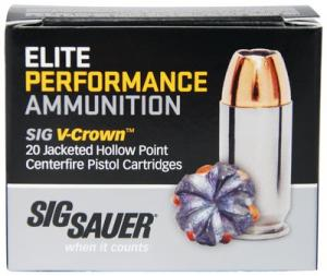 Sig Sauer Elite Performance V-Crown .45 ACP JHP 200Gr Nickel Plated Brass 20Rds E45AP1