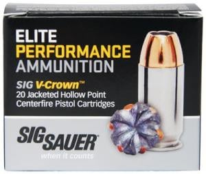 Sig Sauer Elite Performance 9MM 124GR V-Crown JHP 20Rds E9MMA2