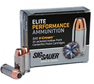 Sig Sauer Elite Performance 9mm 115GR V-Crown JHP 20Rds E9MMA1-20