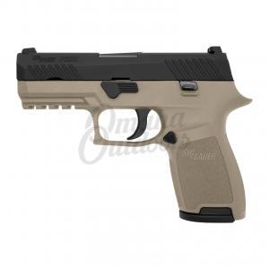 "SIG SAUER P320 Compact 40 S&W Double Action Only Semi-Auto Pistol, 3.9"" Barrel, Nitron Finish - SIG SAUER 320C-40-TSS-FDE 320C-40-TSS-FDE"