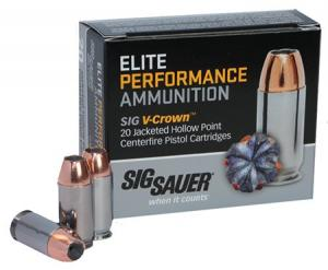 Sig Sauer Elite Performance V-Crown JHP 240 Grain Nickel Plated Brass .44 Mag 20Rds E44MA1-20