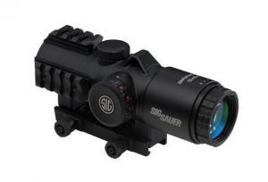 Sig Sauer Bravo3 Prismatic Battle Red Dot Sight, 3x30mm, 556-762 Horseshoe Dot Illuminated Reticle, 0.5 MOA, M1913, Graphite, Medium, SOB33101 SOB33101