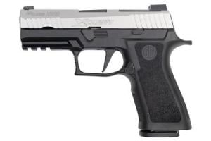SIG SAUER P320 X-Carry 9mm 17-Round Pistol Two-Tone with Stainless Slide and Black Frame 320XCA-9-TXR3