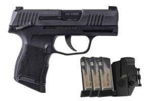 SIG SAUER P365 9mm TacPac with Manual Safety, Three 12-Round Magazines and Holster 365-9-BXR3-MS-TACPAC