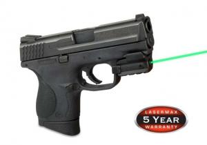 LaserMax Spartan Fully Adjustable Rail Mounted 5mW Green Laser Sight, for Compact or Full size Handguns w/ Rails, SPS-G SPSG