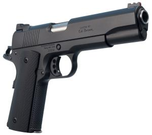 "Ed Brown 18 Special Forces Semi Auto Pistol .45 ACP 5"" Barrel 7 Rounds Red Fiber Optic Front Sight Chainlink III Treatment Matte Black Finish 800732701042"