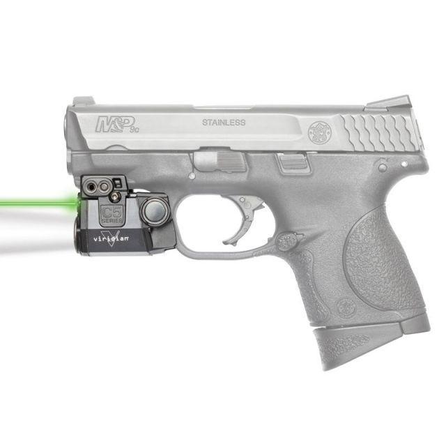 Viridian Universal Sub-Compact ECR Green Laser w/ Tactical Light, Black, Ambidextrous, C5L C5L
