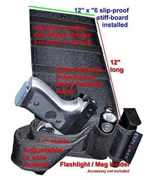 Under Mattress Bed Handgun Holster with Tactical Flashlight Loop H21