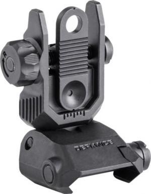 Defiance Sight Rear Steel Flip-up Picatinny Black DARSBL00