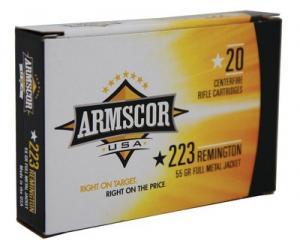 Armscor USA .223 Rem 55GR 20Rds 812285020136