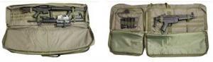 VISM Double Rifle Case w/ PALS Webbing, Pistols Compartment - Black CVDR2914B 814108013943