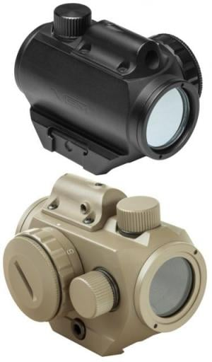 Vism Micro Green Dot Sight w/Integrated Red Laser - Weaver Mounted VDGRLB VDGRLB