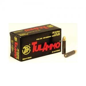 Tula Tulammo 30Carbine 110GR FMJ 50Rds TA301100