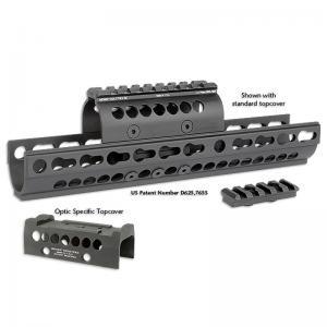 Midwest Industries Combat Rail M-Lok Handguard Fits AR Rifles 10.5-inch Black Finish MI-CRM10.5