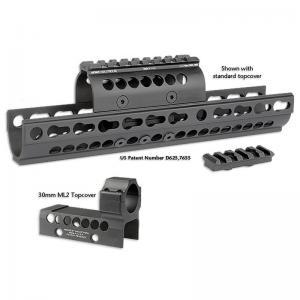 Midwest Industries Combat Rail M-Lok Handguard Fits AR Rifles 15-inch Black Finish MI-CRM15
