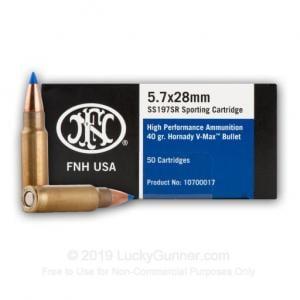 Federal FN 5.7X28mm SR 40gr VMAX 50rd Box SS197SR 818513003605