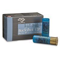"Nobel Sport Buckshot, 2 3/4"" 12 Gauge, 00 Buckshot, 12 Pellets, 10 Rounds ANS1200BK10"