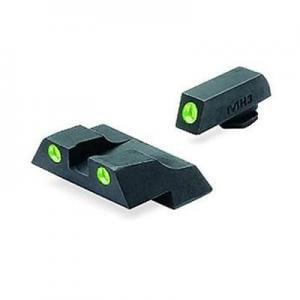 Meprolight Tru-Dot Night Sight Set for Glock G26 & G27, Green Front/Rear, 10226 ML10226G