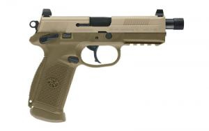 FN FNX-45 Tactical FDE .45 ACP 5.3-inch 15rd Night Sights 66997