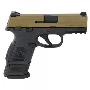 FN FNS-9 Compact 9mm MS BLK/FDE DS Pistol with (1) 12-Rnd (1) 17-Rnd Pistol 66-100231 845737009083