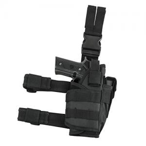 NCStar CVDLHOL2955B Drop Leg Tactical Holster Black 848754003362