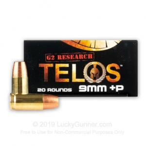 G2 Research TELOS 9MM+ 92Gr Copper Hollow Point 20Rd G00619 851412006193