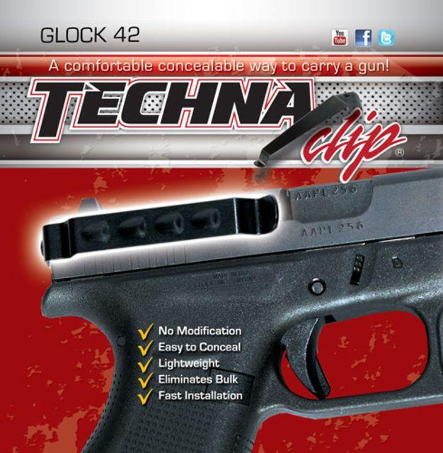 Techna Clips Handgun Retention Clip Glock 42 Right/Left G42BRL