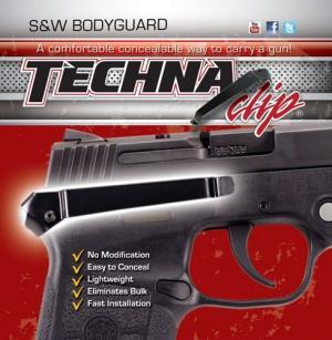 Techna Clips Handgun Retention Clip S&w Bodyguard Auto Right BDGBR