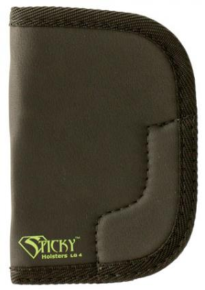 """Sticky Holsters LG-4 Large Revolvers up to 3"""" Latex Free Synthetic Rubber Black w/Green Logo LG4"""