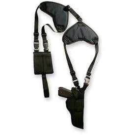 Bulldog Cases Deluxe Shoulder Harness with Horizontal Holster and Ammo Pouch for Ruger P90 WSHD 8 WSHD8