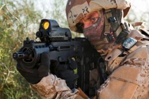 Meprolight Day-Night 30mm Military Reflex Sight, Bullseye Reticle w/5mW Laser Pointer MOR-B 879015008598