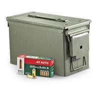 800 rounds .45 caliber ACP 230 Grain FMJ Ammo with Can SB45A W/CAN
