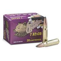 Golden Bear, 7.62x39, HP, 123 Grain, 240 Rounds AG762HP