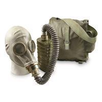 Polish Military Surplus OM14 Gas Mask and Carry Bag, Like New 91650080