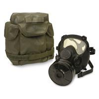 NATO Military Surplus MP5 Gas Mask with Bag and Filter, New 4480-62