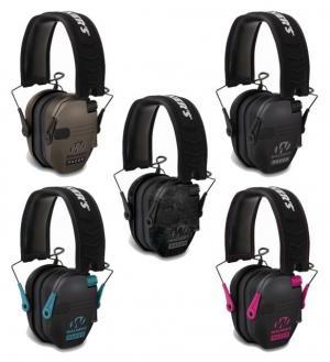 Walkers Razor Series Slim Shooter Folding Electronic Ear Muff, Black/Pink, GWP-RSEM-PNK GWPRSEMPNK