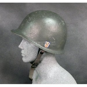 U S  Style M1 Helmet with Liner: Danish M48 with Decal - $47 95