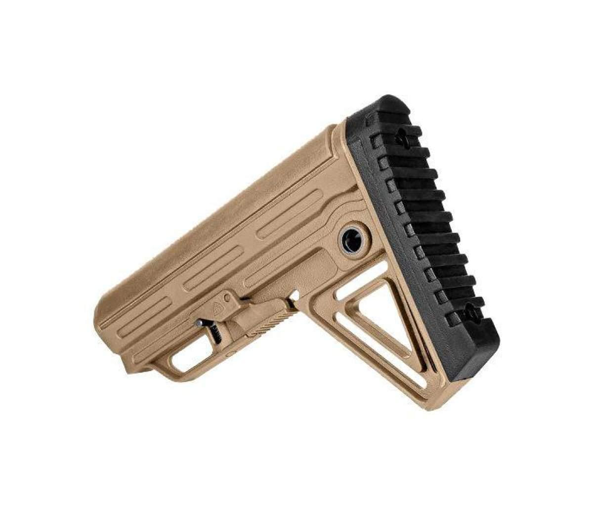 6 position mil spec stock with grip Tan ALPHA stock WITH GRIP sand