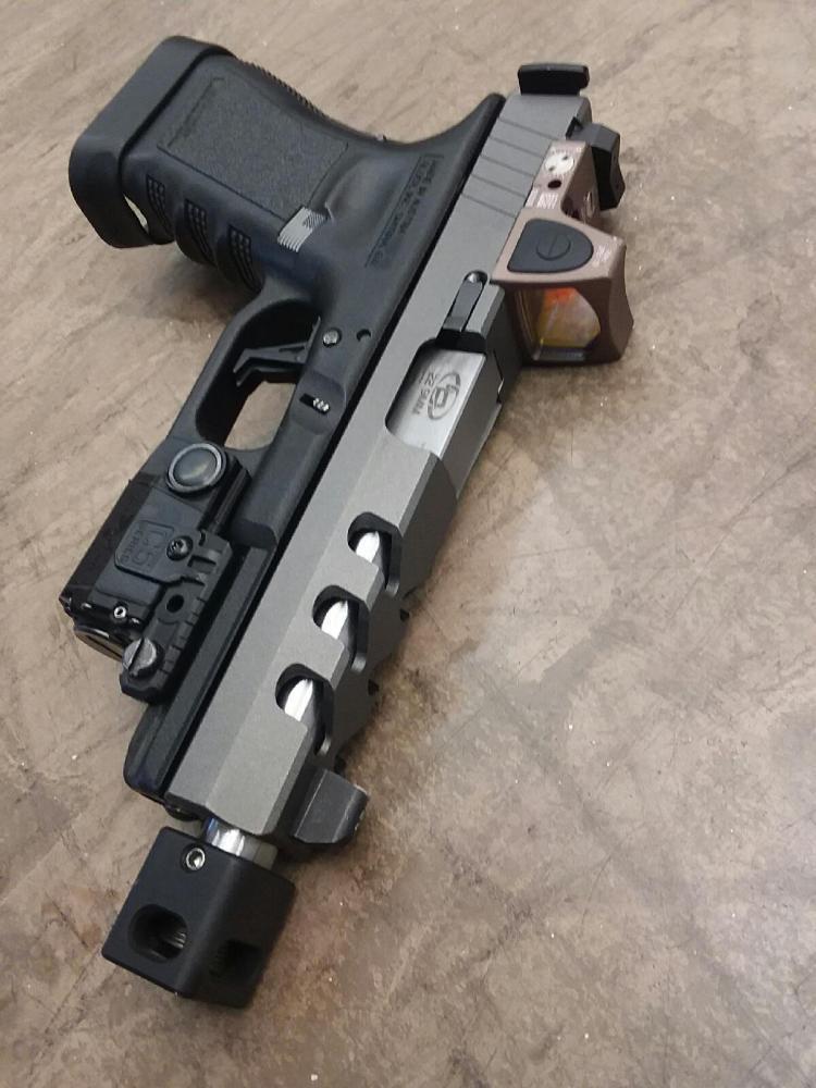 NEW Rock Slide USA RS2-FS9-RMR glock 17 full size custom slide with RMR  Stripped Slide - $219 99