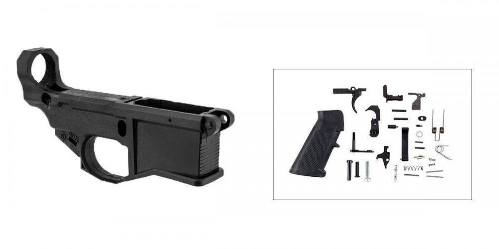 Brownells AR-15 80% Polymer Lower Receiver w/ JIG & Lower
